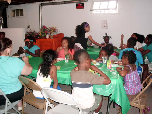 Lunch time at Vacation Bible School